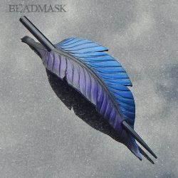 fantasy raven feather barrette