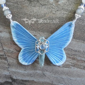 leather butterfly necklace