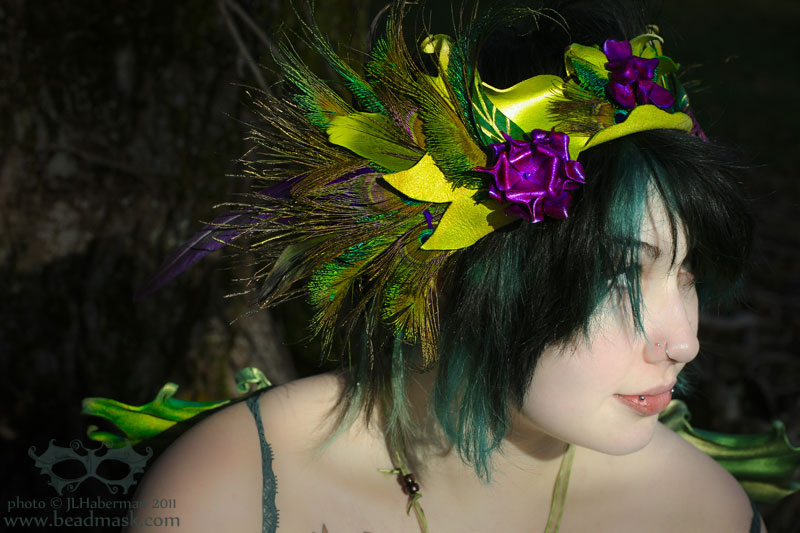 Wild Fae Leather Headpiece