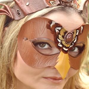 Wood falcon mask