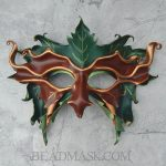 sculpted leather greenman mask