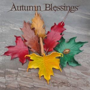 fall leaves - leather leaf pile