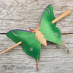 Luna moth hair slide