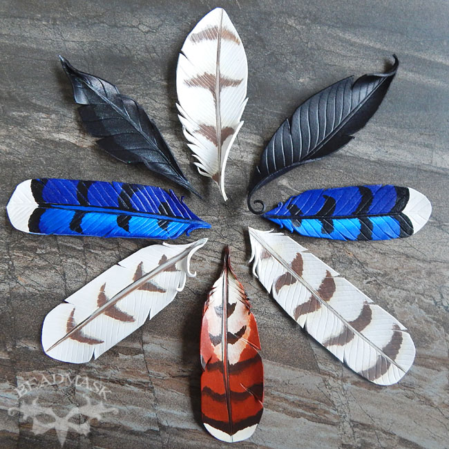 leather-feather-barrettes