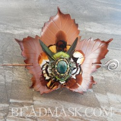 Sycamore Leaf Hair Slide