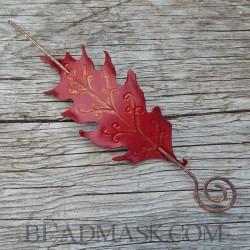 scarlet oak barrette