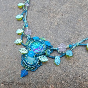 glass garden necklace
