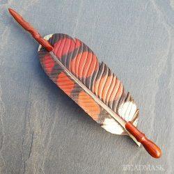 red hawk hair slide