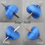 indigo birch leaf hair stick colors