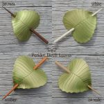 peridot green birch leaf hair stick colors