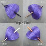purple birch leaf hair stick colors