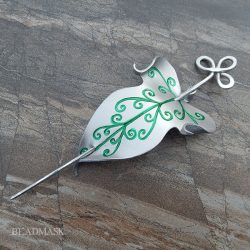 elvish leather leaf barrette