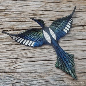 Leather magpie barrette