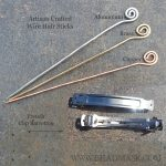 Wire hair sticks and french clips