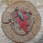 Scarlet Oak Leather Leaf Pendant