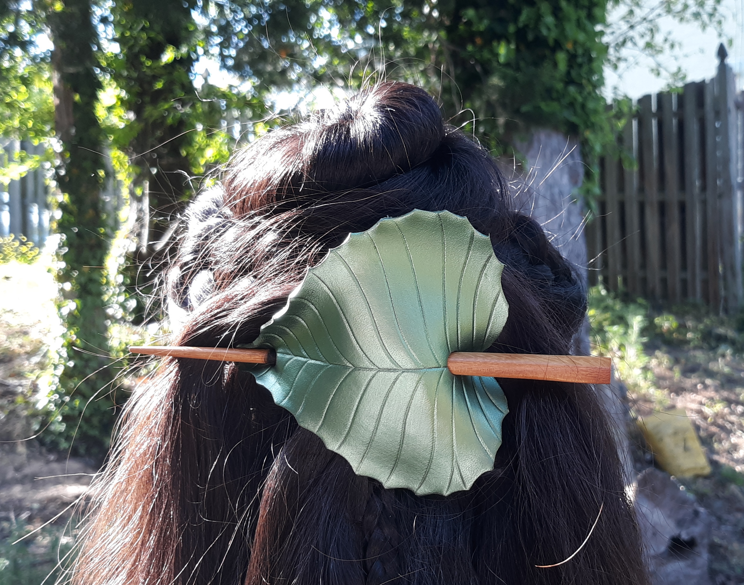birch leaf hair slide